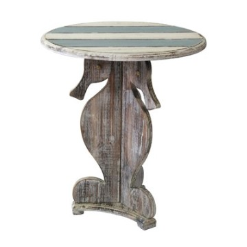 Crestview Seahorse Accent Table