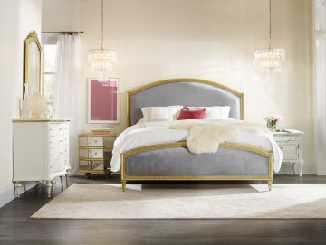 Hooker Cynthia Bedroom Grey & Gold