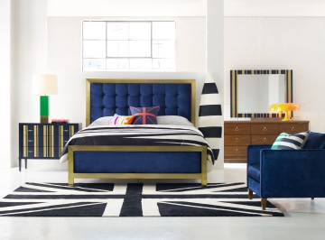 Hooker Cynthia Royal Blue Bed